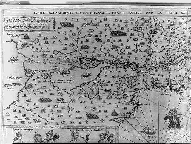 """""""Carte geographique de la nouvelle Franse faictte par le Sieur de Champlain"""""""