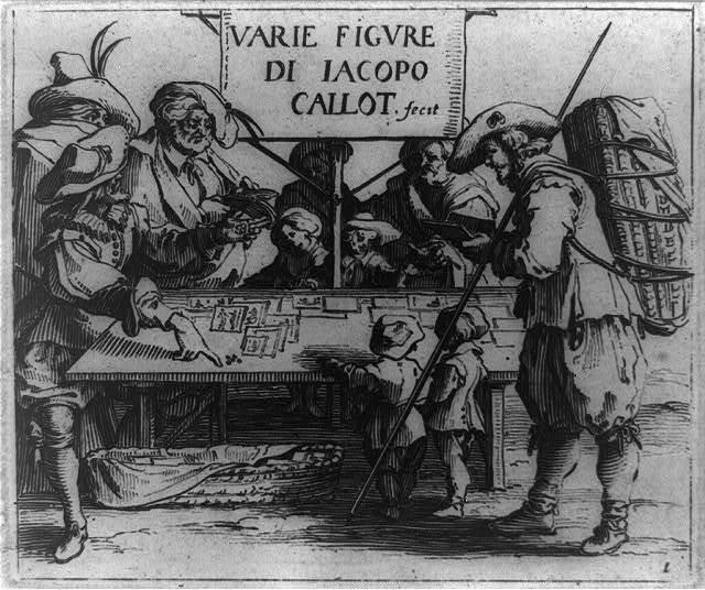 Varie figure di Jacopo Callot, fecit