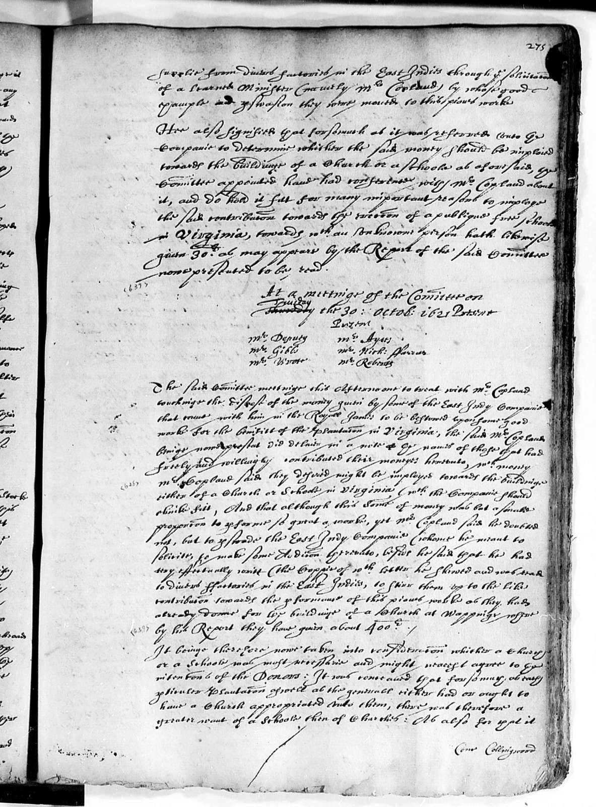 Virginia Company of London, 1619-22, Court Book Part A