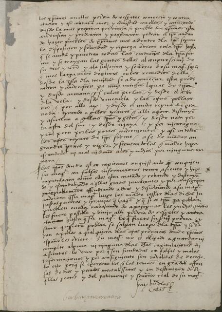 Bartolomé de las Casa statement of opinion, 1542