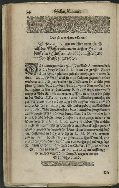 Schatzkammer mechanischer Künste, des Capitains Herrn Augustini de Ramellis.