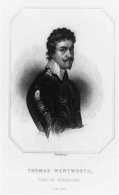 [Thomas Wentworth, Earl of Strafford, half-length portrait, facing right]