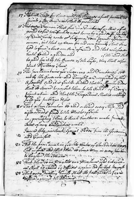 Virginia, March 5, 1624, Laws and Orders Concluded on by the General Assembly