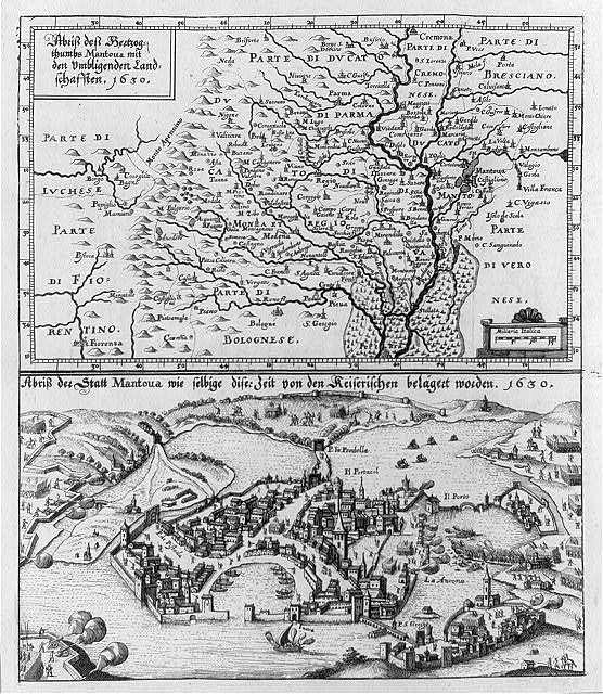 Abriss dess Hertzogthumbs Mantoua mit dem Umbligenden Landschafften, 1630