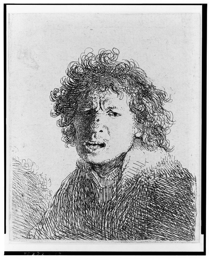 [Rembrandt angry, bust]