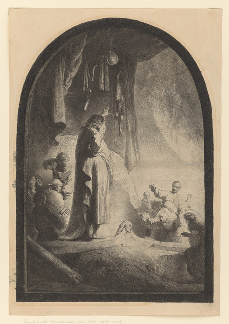 [The raising of Lazarus (large plate)]