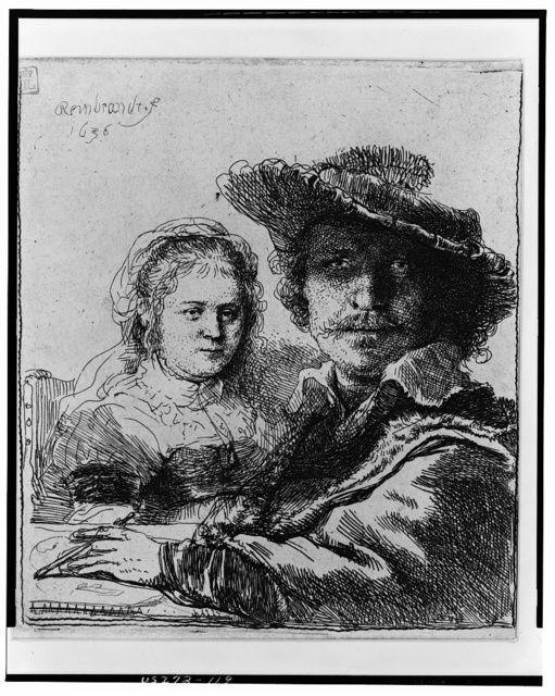 [Rembrandt and his wife Saskia] / Rembrandt.