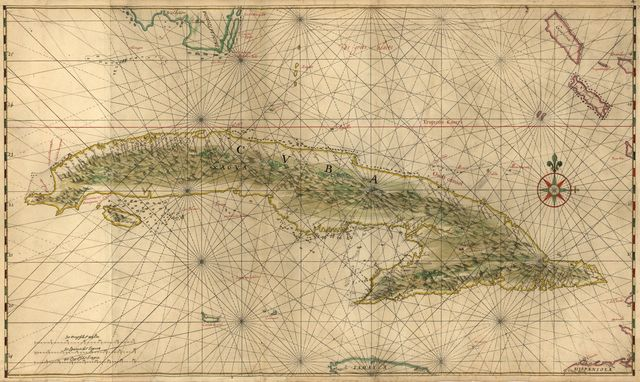 [Map of the complete island of Cuba].