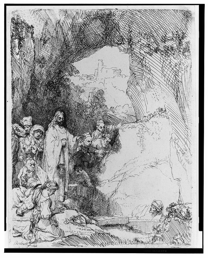 [The raising of Lazarus, small plate] / Rembrandt 1642.