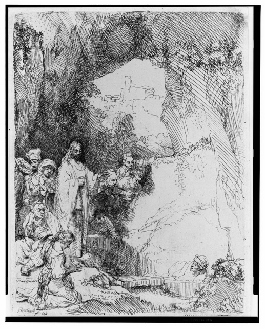 [The raising of Lazarus, small plate] / Rembrandt 1642.
