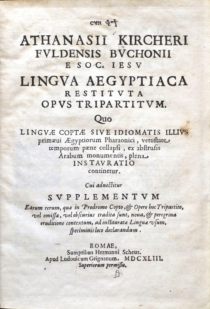 De  Ecclesiae Coptae..