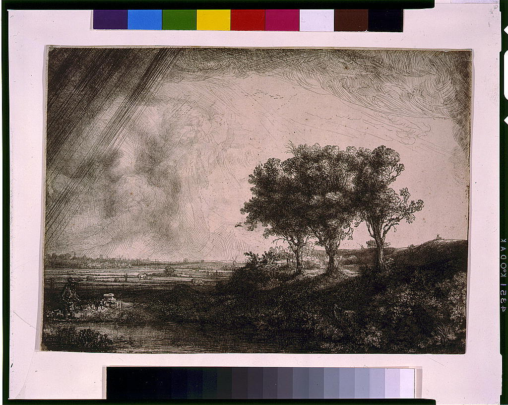 [The three trees] / Rembrandt f 1643.