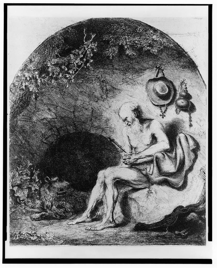 [St. Jerome in the cave] / F. Bol, fe.