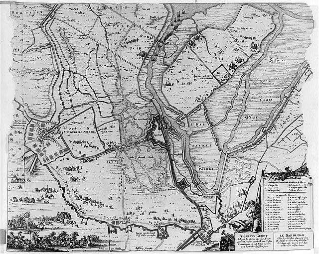 T'Sas van Gendt Belegert den 28. Iuly 1644 door syn Dr. Hoocheyt Fredrick Hendrick van Nassou Pr. van Orangien etc. ende by hem verovert den 6 September des selven jaers