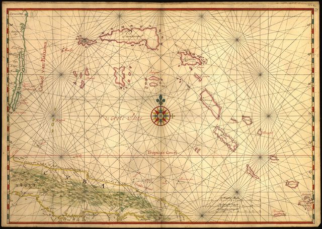 [Map of a part of the island of Cuba and of the Bahamas].