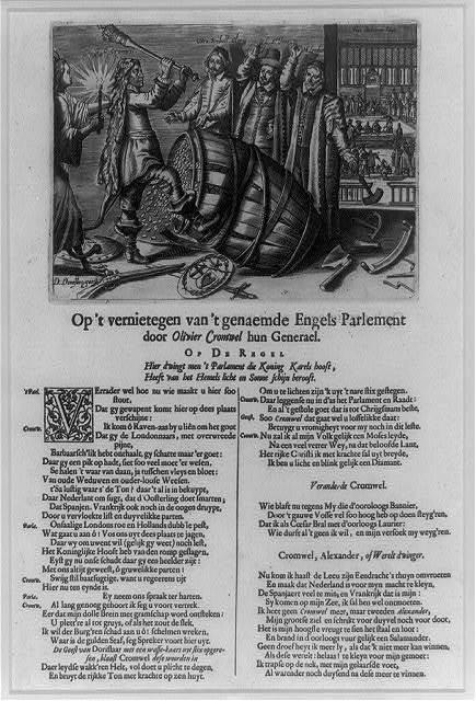 Op't vernietegen van't genaemde Engels Parlement door Olivier Cromwel hun Generael