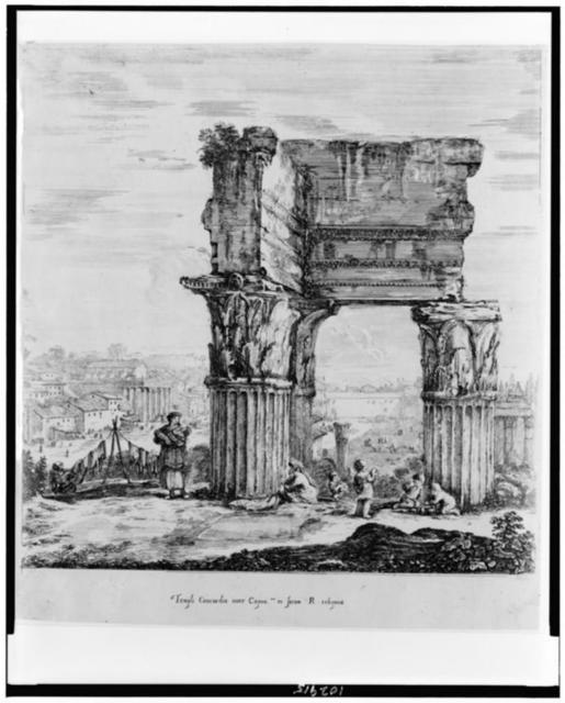 Templi Concordie inter Capito. et forum R. reliquiae