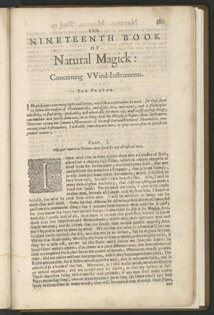 Natural magick, by John Baptista Porta, a Neapolitane: in twenty books ... wherein are set forth all the riches and delights of the natural sciences