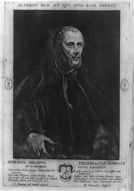 [Paracelsus, half-length portrait painted from life by Tintoretto] / I. Tintoret ad vivum pinxit ; F. Chaveau, sculpsit.