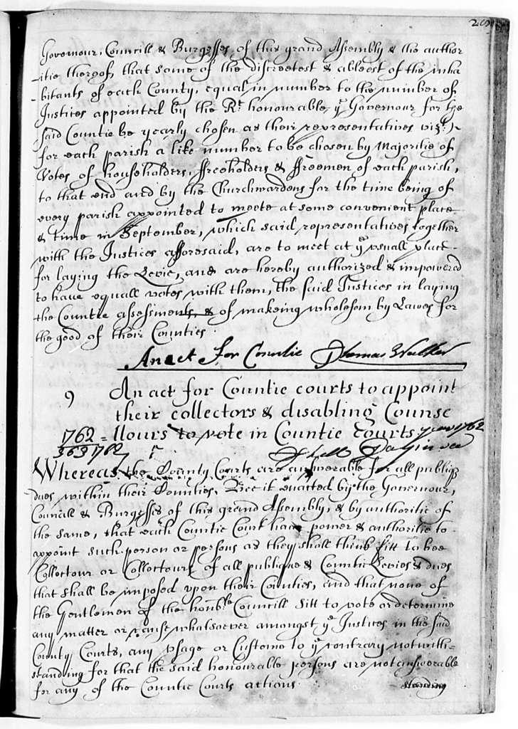Virginia, 1662-1702, Laws (Charles City Manuscript)