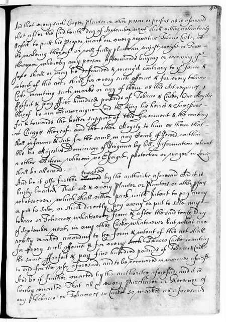 Virginia, 1662-1702, Laws (Charles City Manuscript)