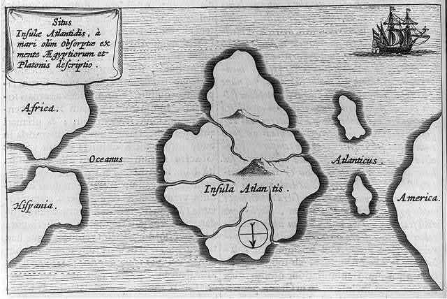 "[Map showing ""Insula Atlantis"", the lost continent of Atlantis]"