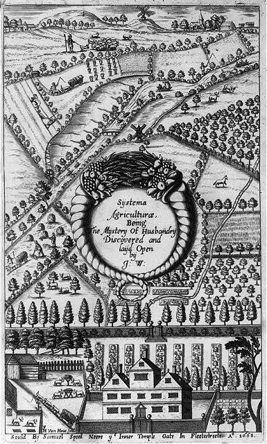 [Frontispiece of Systema Agriculturae. 1669]