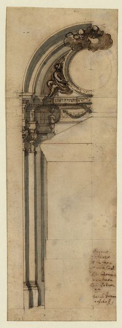 [First sketch for the chapel of Bonaventura at Potenza (Italy), in (church) San Francesco]