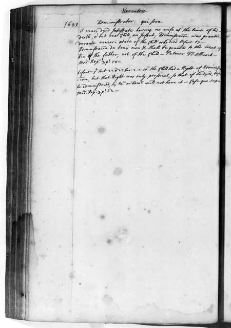 Sir John Randolph, 1680, Commonplace Book