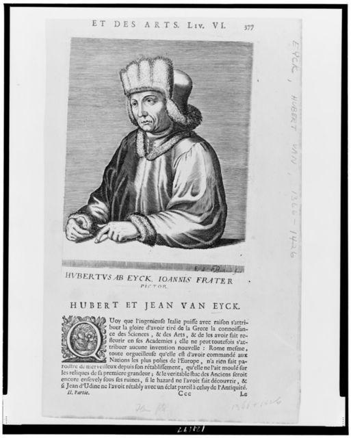 Hvbertvs Ab Eyck, Ioannis Frater, pictor / E. de Boulonois fecit.