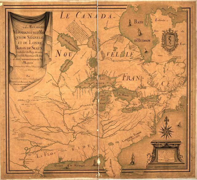 Amérique septentrion.lle [i.e. septentrionale] : composée, corigée, et augmētée, sur les iournaux, mémoires, et observations les plus justes qui en ón'́etes.tes en l'année 1685 & 1686, par plusieurs particuliés /