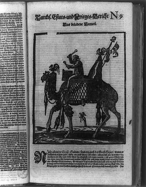 [Man with drum on camel used by the Grand Vezir's army in the siege of Vienna]