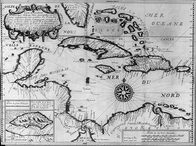 [Map of the Caribbean in French; 1686]
