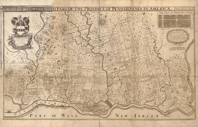 A map of the improved part of the Province of Pennsilvania in America : begun by Wil. Penn, Proprietary & Governour thereof anno 1681 /