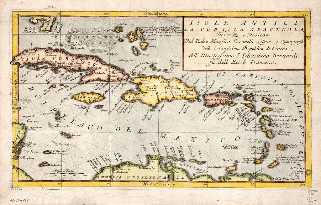 Isole Antili, la Cuba e la Spagnuola