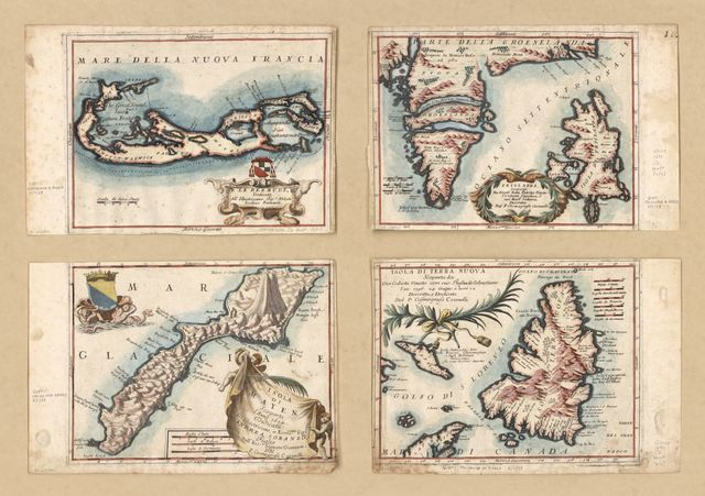 [Maps of Bermuda, Iceland, Jan Mayen Island, and Newfoundland].