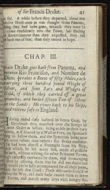 The English hero, or, Sir Francis Drake reviv'd. Being a full account of the dangerous voyages, admirable adventures, notable discoveries, and magnanimous atchievements of that valant and renowned commander ...