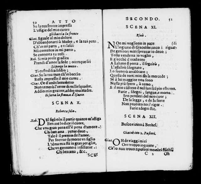 Finto Esaù. Libretto. Italian