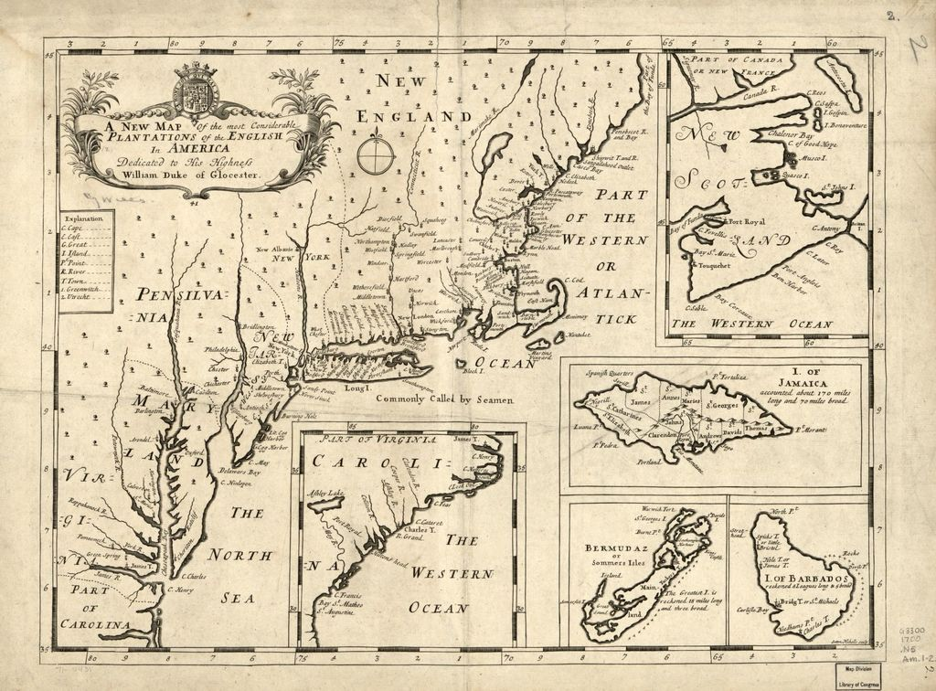 A new map of the most considerable plantations of the English in America.