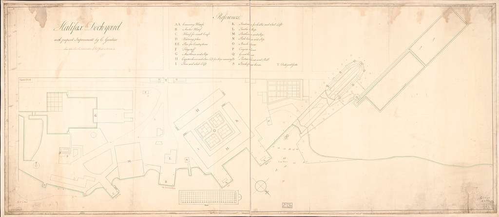 Halifax dockyard with proposed improvements,