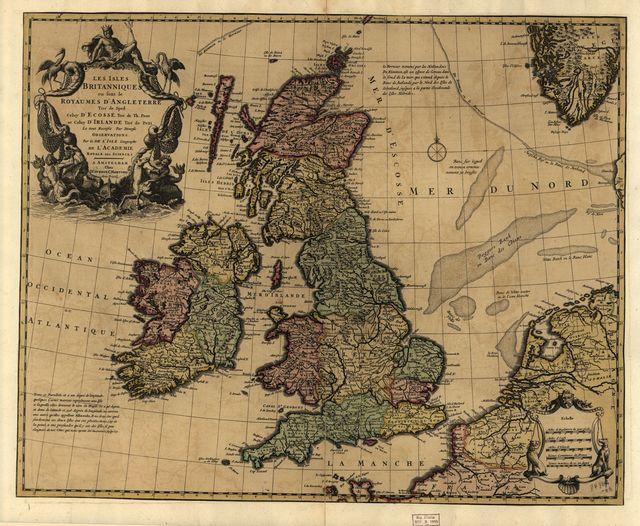 Les Isles Britanniques : ou sont le Royaume d'Angleterre tire ́de Sped celuy d'Ecosse tire ́de Th. Pont et celuy d'Irlande tire de Petti, Le tout rectifie ́par diverses observations /
