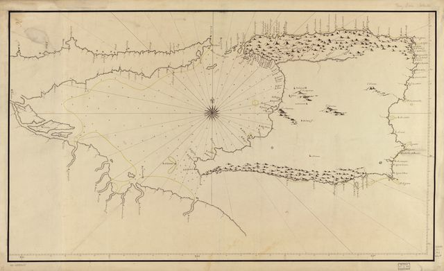 [Map showing Trinidad Island and adjacent coast of Venezuela].