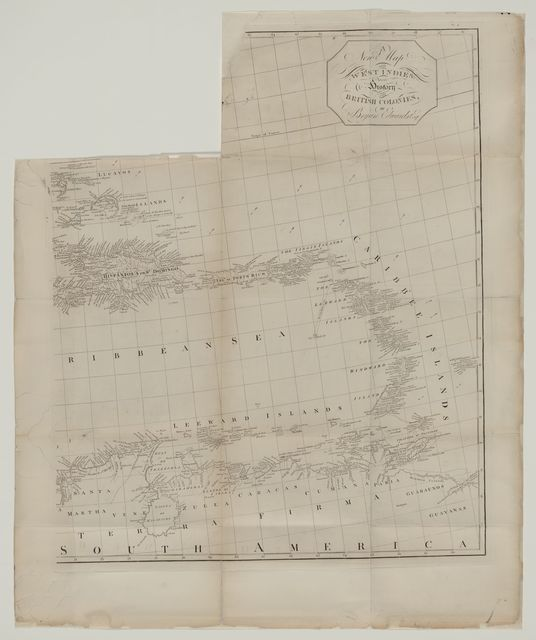 New map of the West Indies for the history of the British colonies /