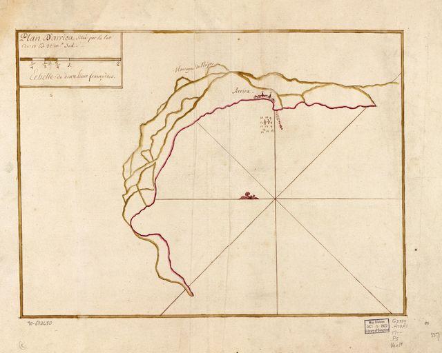 Plan d'Arrica situé par la latt. de 18 d. 25 ms. sud.