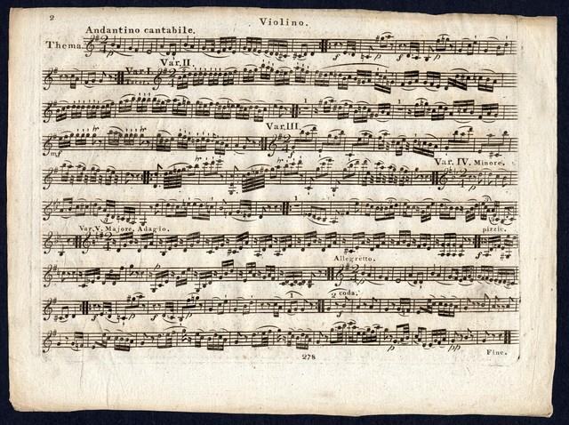 Sonate pour clavecin ou piano forte avec accompagnement de violon par Mozard Oeuvre 2, No. 5