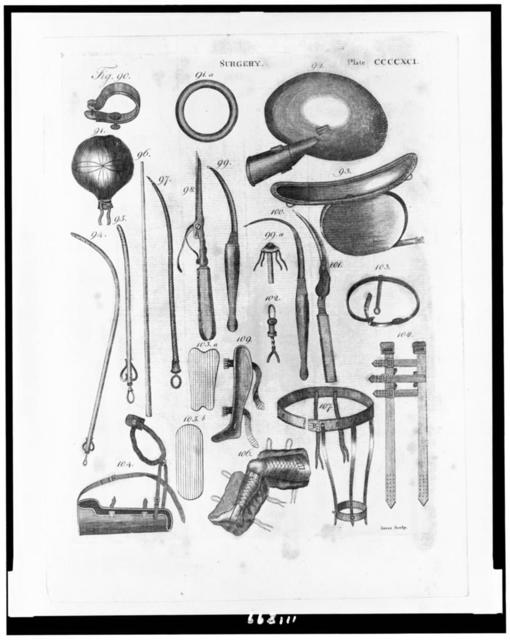 [Various surgical instruments and apparatuses] / Jones sculp.