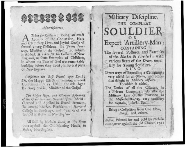 [Title page to manual on military discipline for proper conduct during use of artillery]