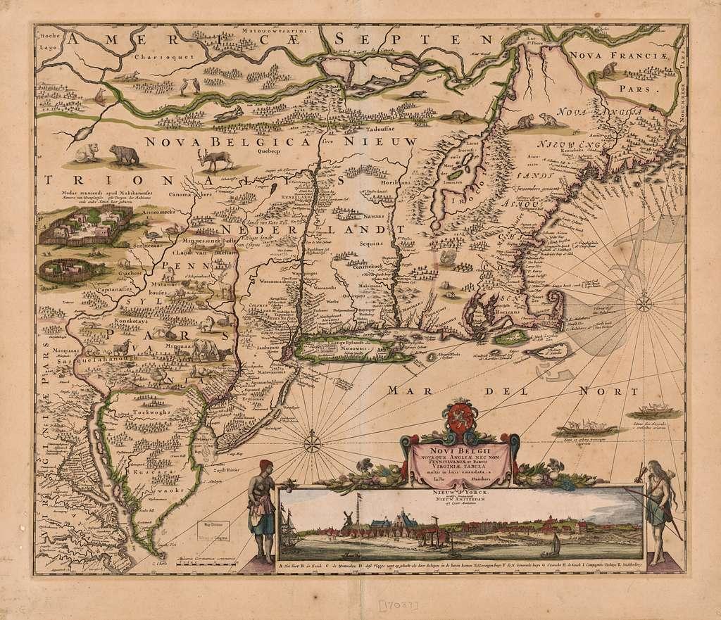Novi Belgii Novaeque Angliae nec non Pennsylvaniae et partis Virginiae tabula multis in locis emendata