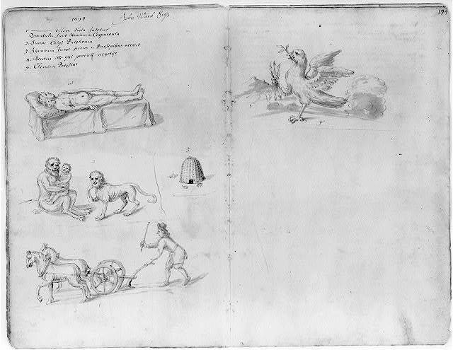 [Drawings of annual guild days of Norwich, England, 1705]