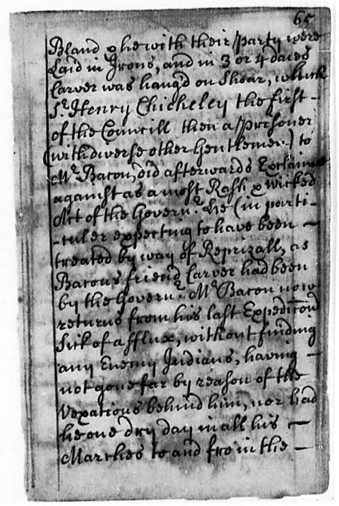 Thomas Mathew, 1705, The Beginning, Progress and Conclusion of Bacon's Rebellion in Virginia. . . .